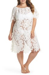 Muche Et Muchette Plus Size Women's Ode Lace Cover Up Dress White