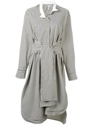 Loewe Striped Shirt Dress Green