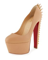 Christian Louboutin Electropump Spiked Red Sole Pump Nude Women's