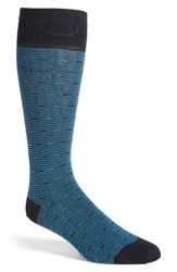 Boss Men's 'Feeder Stripe' Socks Dark Blue