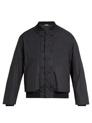Marni Reversible And Detachable Bomber Jacket Navy