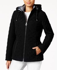 Laundry By Design Hooded Quilted Jacket Black