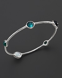 Ippolita Rock Candy Sterling Silver Wonderland Bangle In Neptune Green Silver