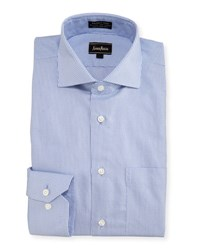 Neiman Marcus Classic Fit Non Iron Dobby Dress Shirt Blue