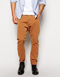 Asos Loose Jeans In Engineered Style Tobacco