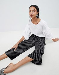 B.Young Stripe Panelled Trousers Black