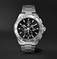 Tag Heuer Aquaracer Chronograph Quartz 43Mm Steel Watch Black