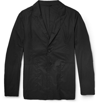 Ann Demeulemeester Lightweight Cotton Jacket Black