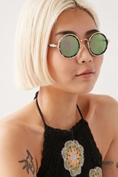 Urban Outfitters Full Moon Round Sunglasses Black Multi