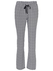Betty Barclay Loose Printed Trousers Dark Blue White