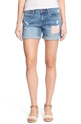 Women's Lucky Brand 'The Roll Up' Patched Denim Shorts National City