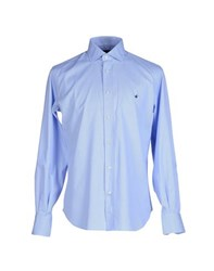 Brooksfield Shirts Shirts Men Sky Blue