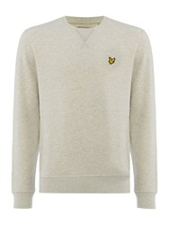 Lyle And Scott Crew Neck Sweatshirt Light Grey Marl