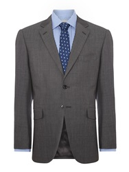 Howick Derry Notch Lapel Pindot Suit Jacket Charcoal