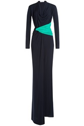 Vionnet Colorblock Draped Gown Multicolor