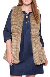 Plus Size Women's Eloquii Faux Fur Vest