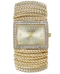 Charter Club Gold Tone Stretch Bracelet Watch 30X34mm Only At Macy's