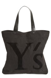 Yohji Yamamoto Ys By Embroidered Canvas Tote Bag Black