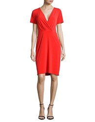 T Tahari Trish Knit Dress Red