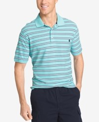 Izod Men's Striped Polo Blue Radiance
