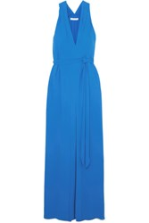 Halston Heritage Crepe Maxi Dress Blue