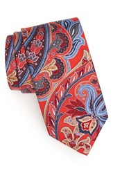 Men's J.Z. Richards Paisley Silk Tie Coral
