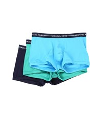 Michael Kors Ultimate Cotton Stretch Trunk 3 Pack Mineral Men's Underwear Blue