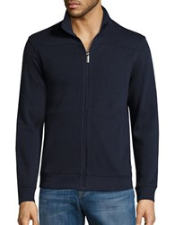Perry Ellis Textured Zip Front Jacket Dark Sapphire