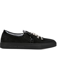 Philipp Plein Slip On Sneakers Black