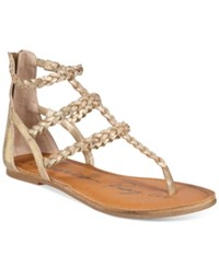 American Rag Madora Braided Gladiator Flat Sandals Only At Macy's Women's Shoes Gold