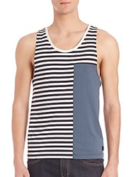 Madison Supply Striped Colorblock Tank Top Caviar