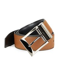 Tallia Orange Textured Leather Belt Reverse Tan Black