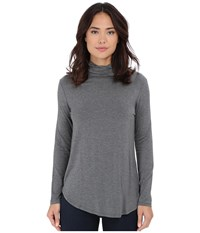 Culture Phit Hanna Mock Neck Top Heather Grey Women's Clothing Gray