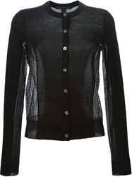 Marc By Marc Jacobs Contrast Panel Cardigan Black