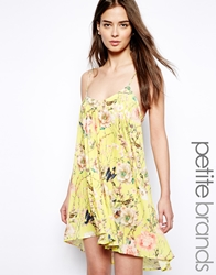 True Decadence Petite Botanical Floral Cami Swing Dress