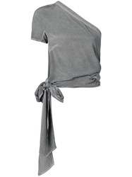 Lost And Found Ria Dunn Wrap Blouse Grey