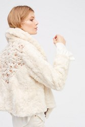 Free People Womens Embroidered Cascade Fur