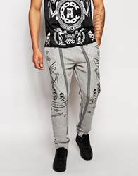 Crooks And Castles Black Order Cuffed Sweatpants Grey