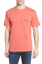 Patagonia Men's P 6 Logo Graphic T Shirt Spiced Coral