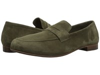 Massimo Matteo Suede Penny Loafer Green Suede Slip On Shoes