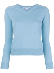 Stella Mccartney V Neck Sweater Blue
