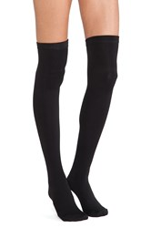 Plush Thigh High Fleece Lined Leggings Black
