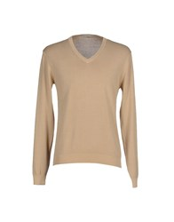 Private Lives Knitwear Jumpers Men Beige