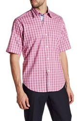 Tailorbyrd Woven Short Sleeve Shirt Red