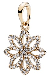 Pandora Design 'Lace Botanique' Pendant Gold Clear