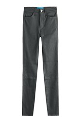 Mih Jeans Leather Pants Black