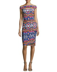 La Petite Robe Di Chiara Boni Off The Shoulder Printed Cutout Cocktail Dress Liberty Glass