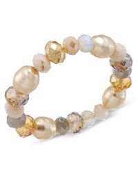 Charter Club Multi Bead Stretch Bracelet Only At Macy's Gold