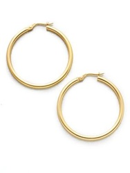 Roberto Coin 18K Yellow Gold Hoop Earrings 1.4