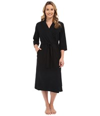 Jockey 48 Cotton Robe Black Women's Robe